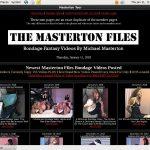 Membership For The Masterton Files