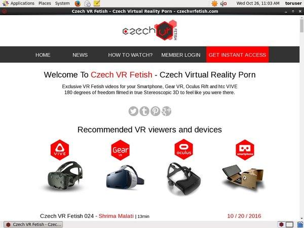 Free Czechvrfetish.com Sign Up